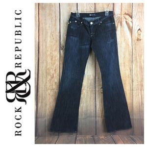 💸ROCK & REPUBLIC Jimmy Flare Leg denim jean sz 31